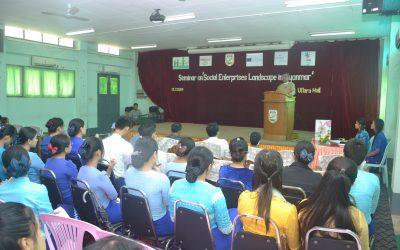Seminar on Social Enterprise Landscape in Myanmar