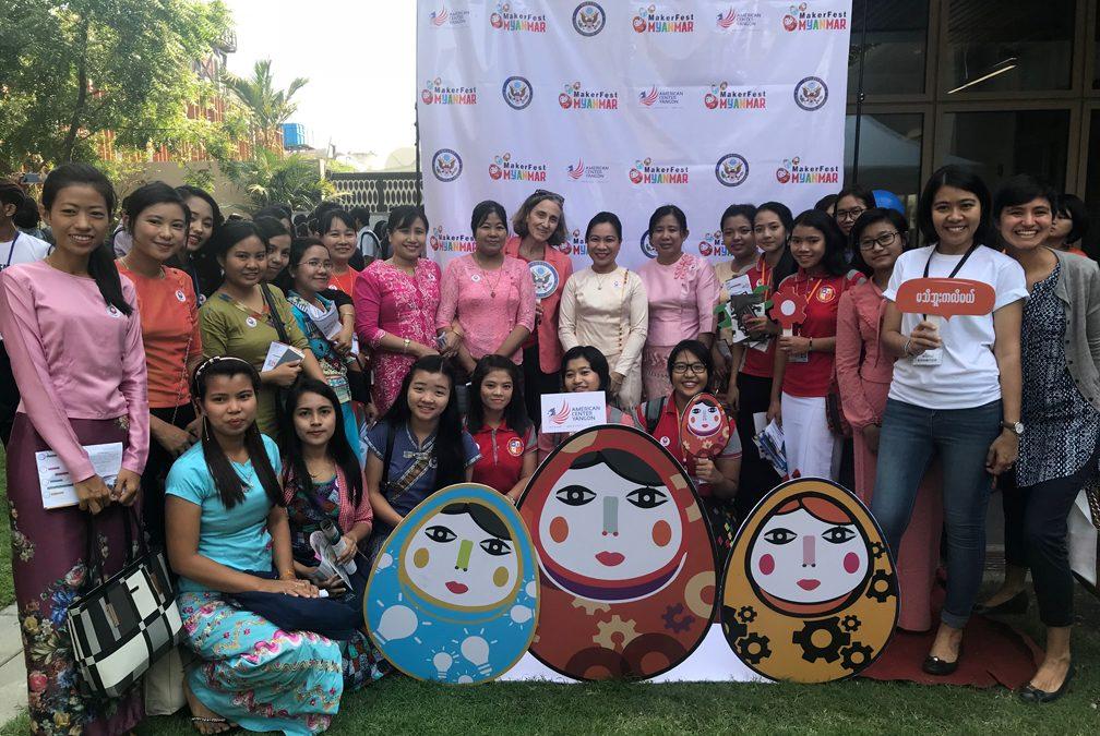 Exploring Maker Fest Myanmar 2019 @ American Center Yangon